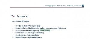 Screenshot website PVV per 04-09-2013